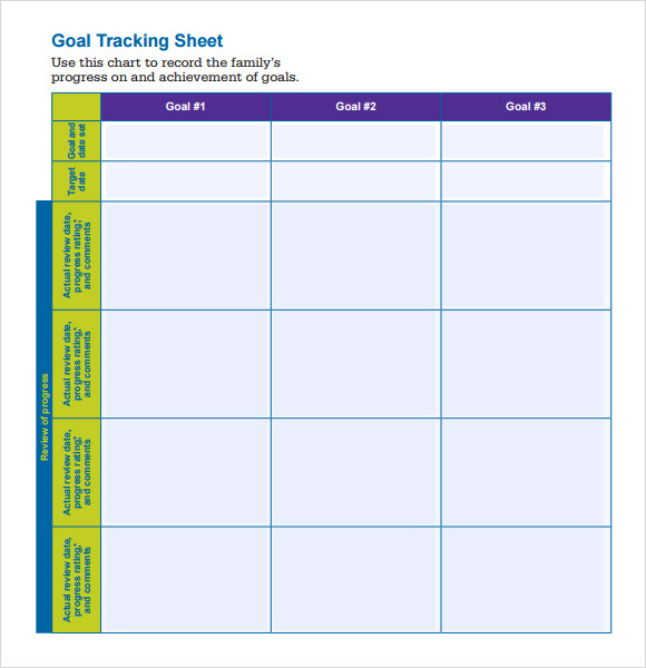 tracking sheet templates