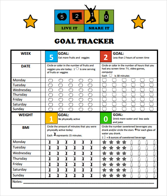 Sample Goal Tracking   Documents In Pdf Excel