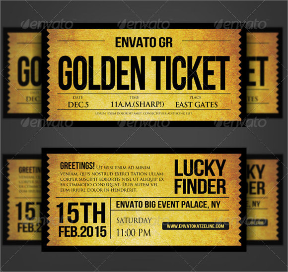 9 Sample Ticket Invitations PSD Vector EPS – Sample Ticket Template