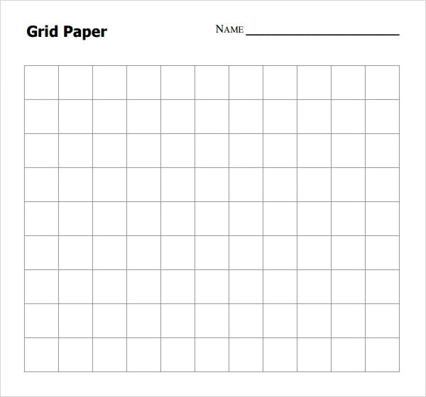 grid paper sample