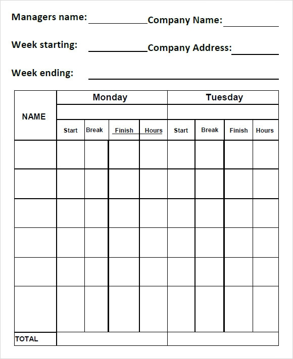 group time tracking template