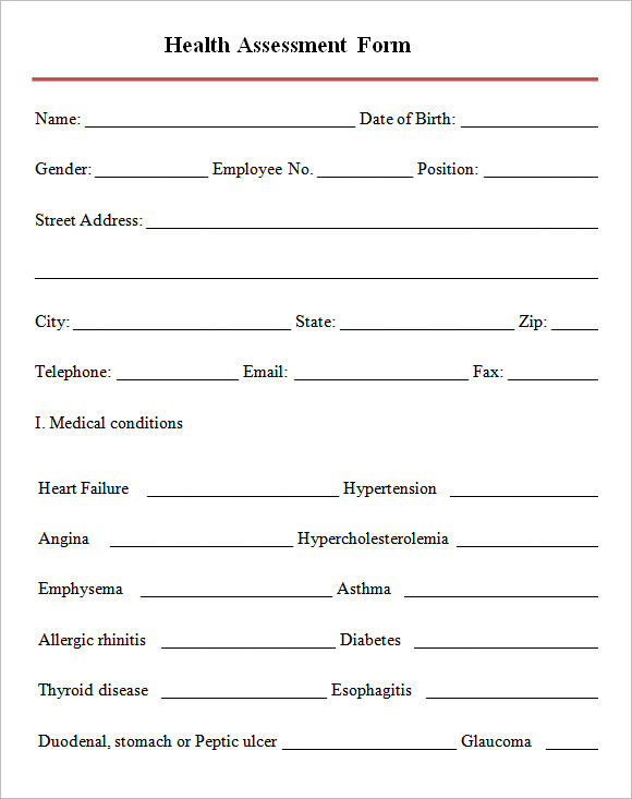 Health Assessment Form Pictures To Pin On Pinterest - Pinsdaddy