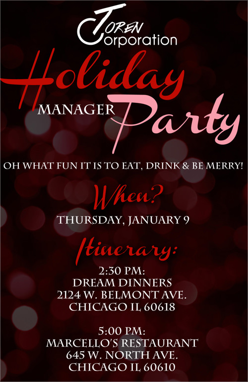 Holiday Party Invitation PSD. Holiday Party Invitation Template
