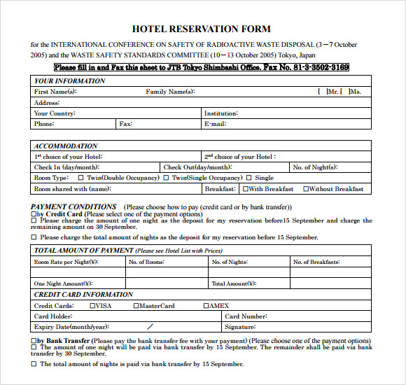 Hotel receipt template 9 free download for pdf word for Accommodation booking form template