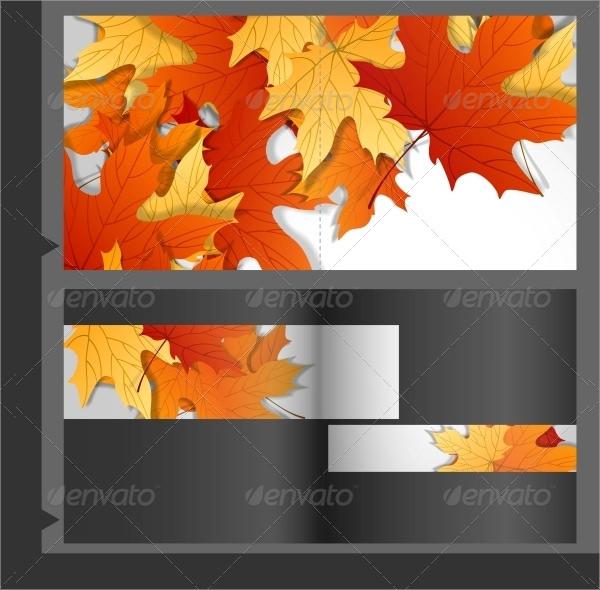 illustrator brochure template design of leaves