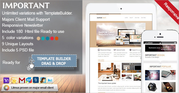 important responsive email template