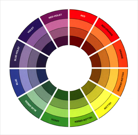 Impeccable image for color wheel printable