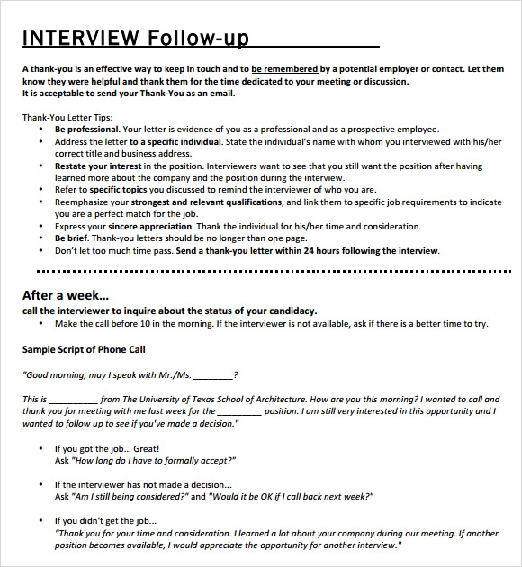 follow up email after phone interview examples interviewing skills