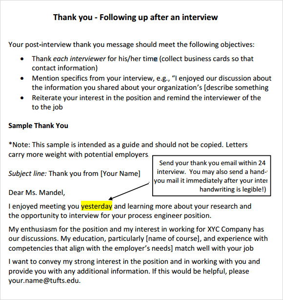 Sample Follow Up Email After Interview Making Moves  How To Write