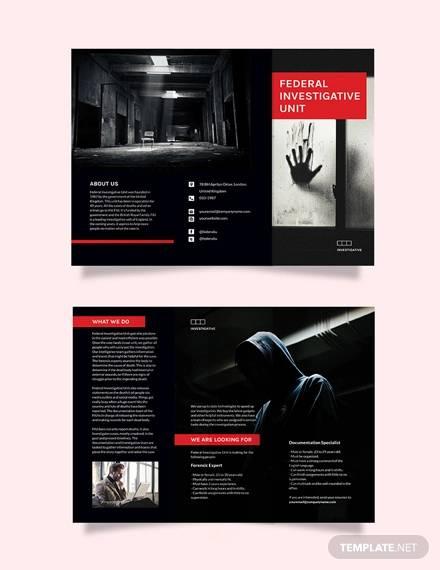 investigator tri fold brochure template