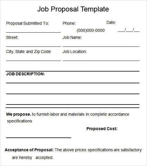 Job Proposal Sample. Training Proposal Template Sample Pdf