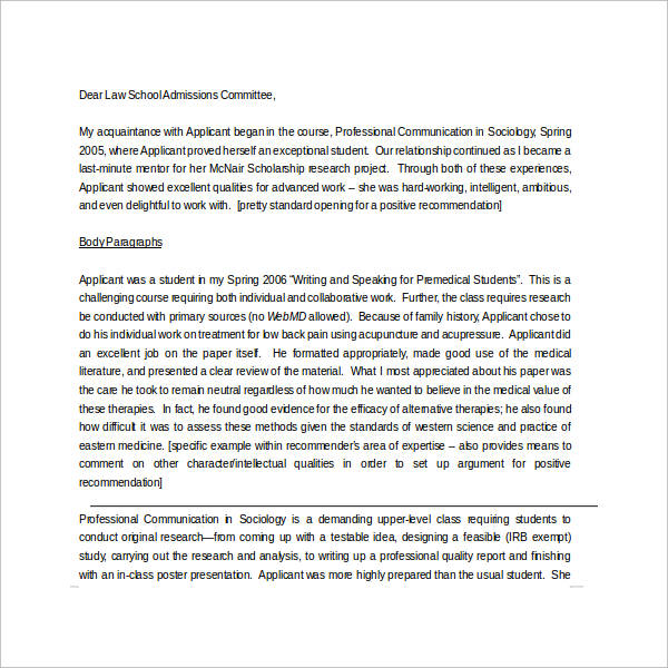 Sample letter of recommendation for scholarship 29 examples in letter of recommendation for scholarship from mentor altavistaventures Image collections