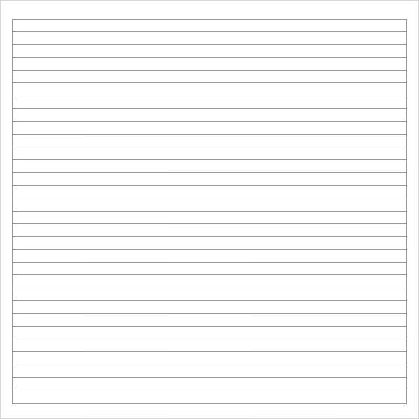 Notebook Paper 9 Download Documents in PDF – Lined Paper Word Template