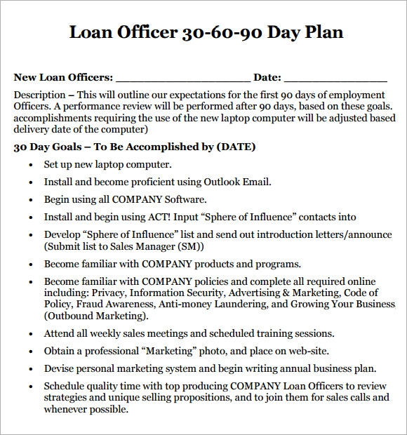 30 60 90 Day Plan Template - 8+ Free Download Documents In PDF