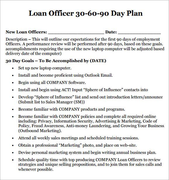 Loan originator business plan