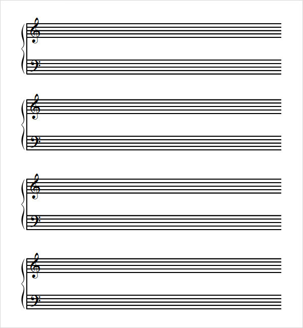 8 sample music paper templates to download sample templates for Music manuscript template