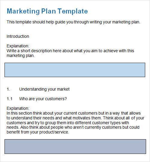 sample plan template