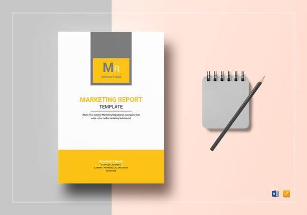 marketing report template print