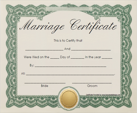 Blank Marriage Certificate Pdf Pictures to Pin – Sample Marriage Certificate
