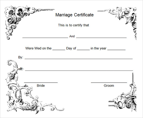 18 sample marriage certificate templates to download for Downloadable certificate templates for microsoft word