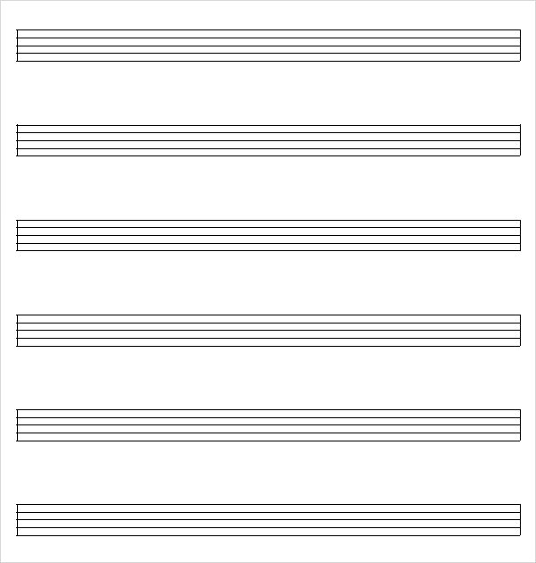 Music Note Paper Template