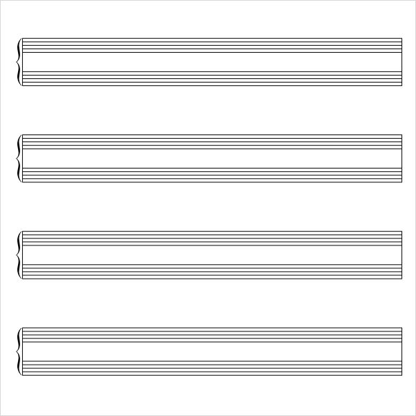 Music Staff Paper 8 Free Download for PDF Word – Music Paper Template