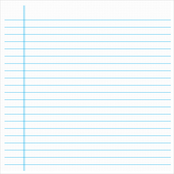 notebook paper template pdf
