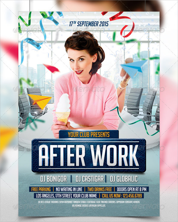 office birthday flyer templates