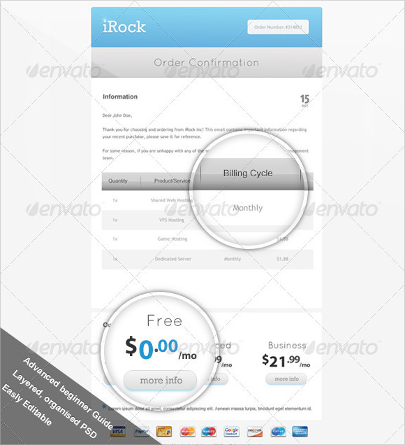 Confirmation Email Template - 9+ Premium and Free Download PDF , Word