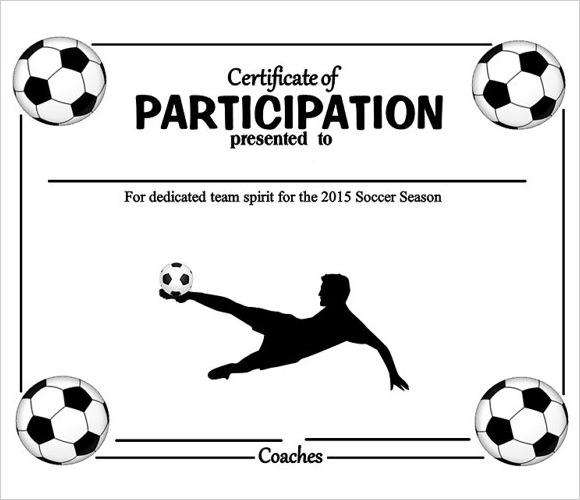 soccer certificates for kids