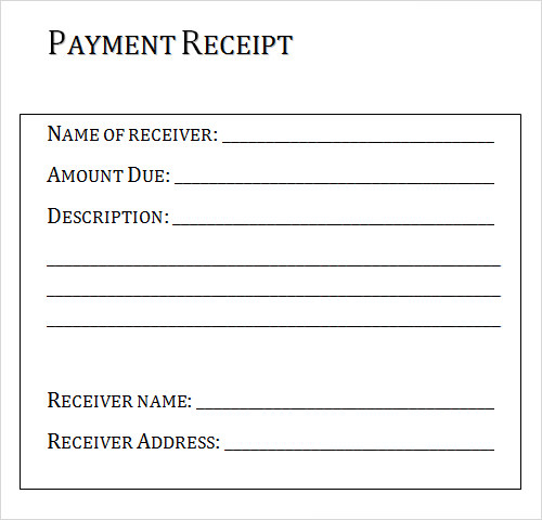 Receipt Template - Download Free Documents in PDF , Word , Excel ...