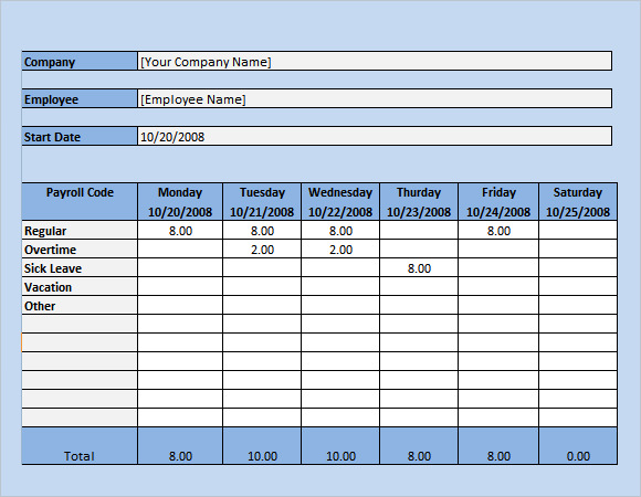 Payroll Template In Excel  BesikEightyCo