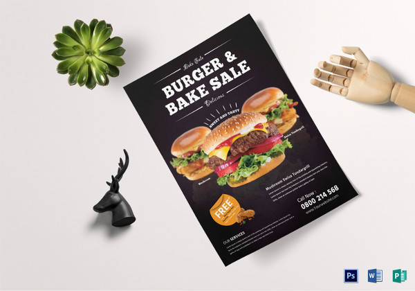 personalized bake sale flyer template
