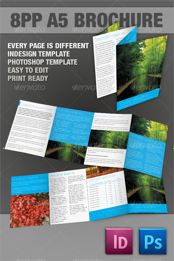11 illustrator brochures sample templates for Pamphlet photoshop template