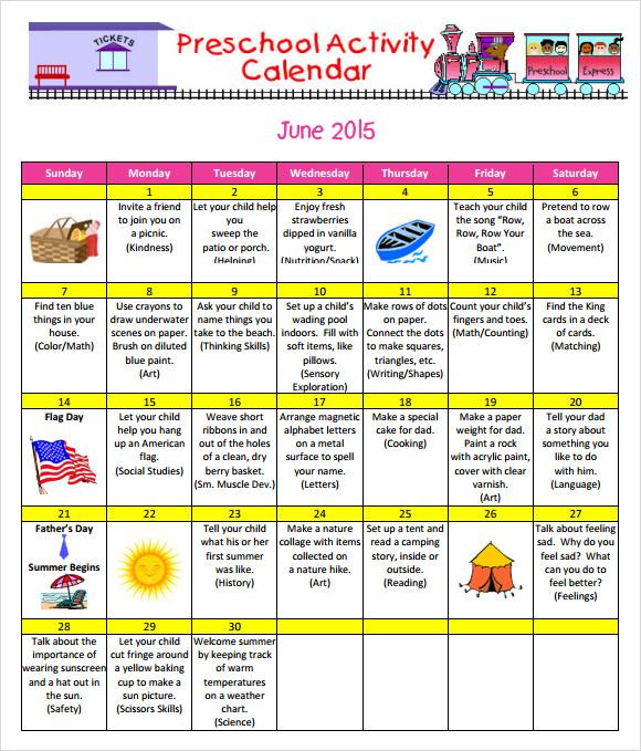 Kindergarten Daily Calendar Activities : Summer calendar templates zoro blaszczak