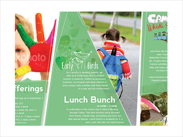 9 preschool brochures psd vector eps for Daycare brochure template