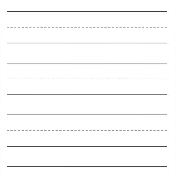 printable lined notebook paper template