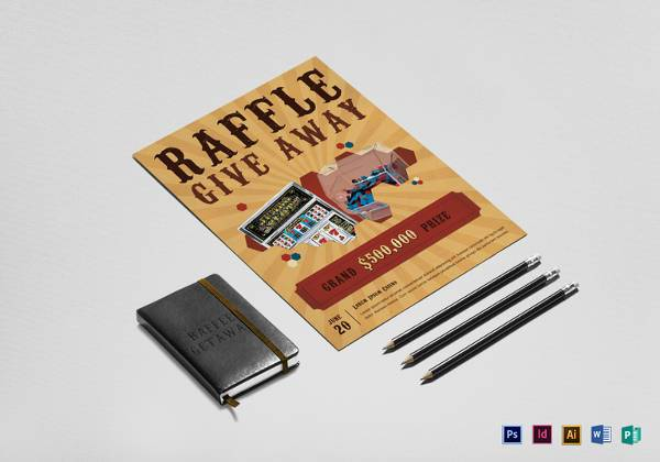printable casino raffle flyer template