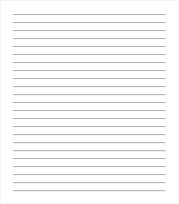 Sample College Ruled Paper Template 9 Free Documents In PDF Word – Lined Notebook Paper Template