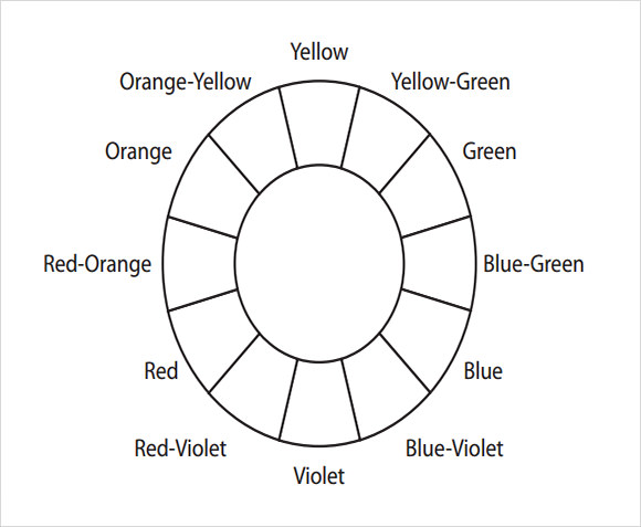 Sample Color Wheel Chart Use The Colour Wheel As The Basis For A