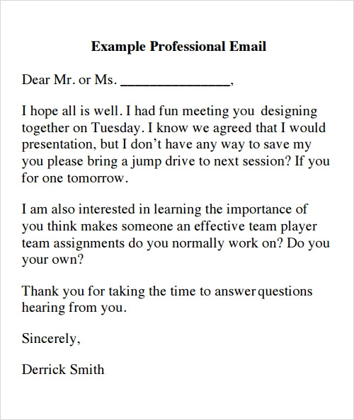 Sample Email - 13+ Documents In Pdf , Word , Excel , Psd