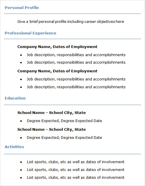 professional resume templates free .