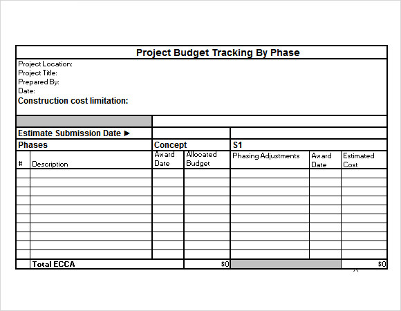 Sample Budget Tracking  Documents In Pdf Excel