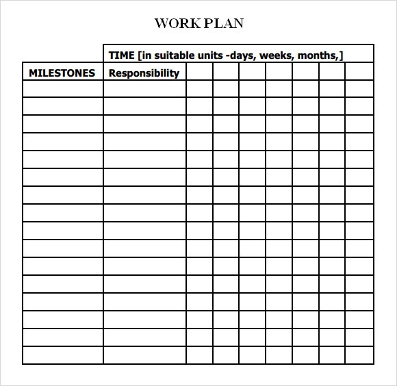 Work Plan Template 12 Download Free Documents for Word Excel PDF – It Project Plan Template