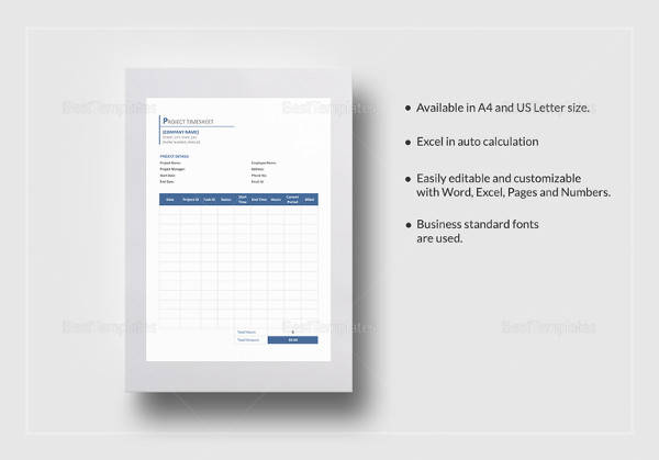 project timesheet template to print