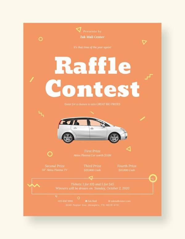 raffle flyer template