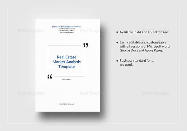 FREE 7+ Sample Real Estate Market Analysis Templates in MS