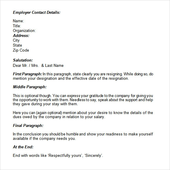 Resignation email template 6 download documents in pdf word resignation email format expocarfo