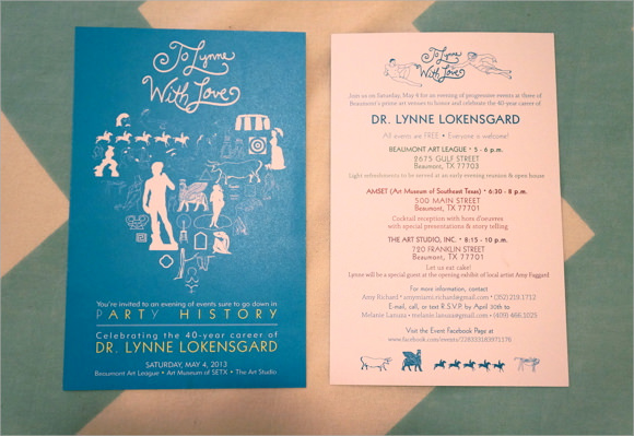 5 Sample Retirement Invitations PSD