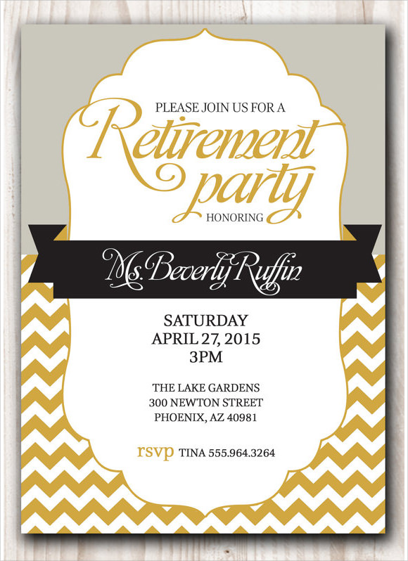 9 sample retirement invitations psd ai word